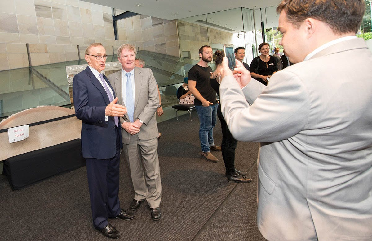 Lysicrates Prize 2016 Bob Carr and Alan Manly