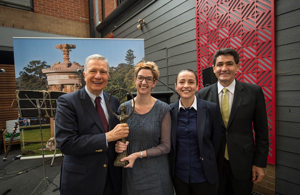 Lysicrates Prize 2017 John Azarias, Katie Pollard, Lee Lewis, Geoff Lee