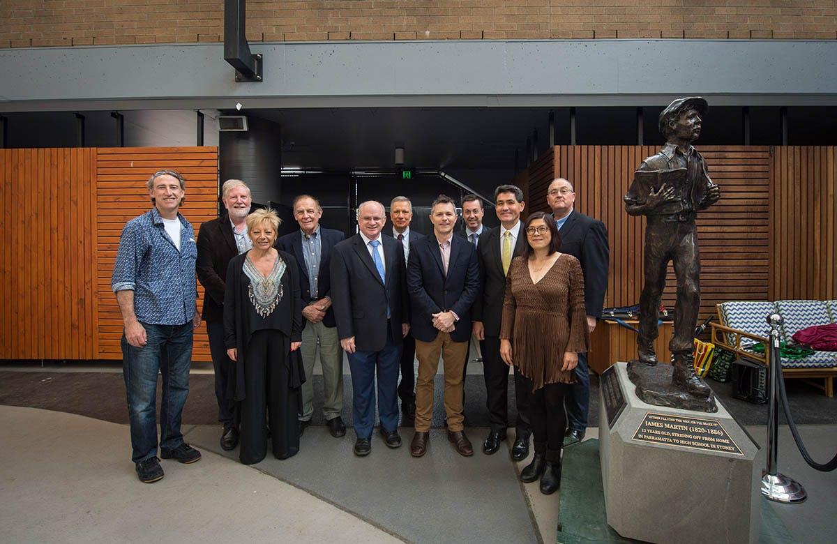 Lysicrates Prize 2017 Paul Thurlo, Bruce Pettman, Linda Pace, Alan Somerville, Andrew Wilson, Jason Clare, Joanne Kee, Walt Secord