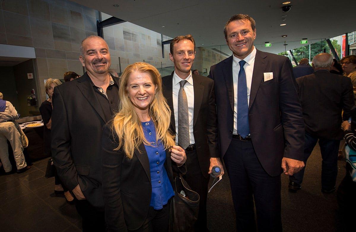 Lysicrates Prize 2015 Greg Gav, Angelo Vithoulkis, Stephen Kampher and Chris Toma Greek community