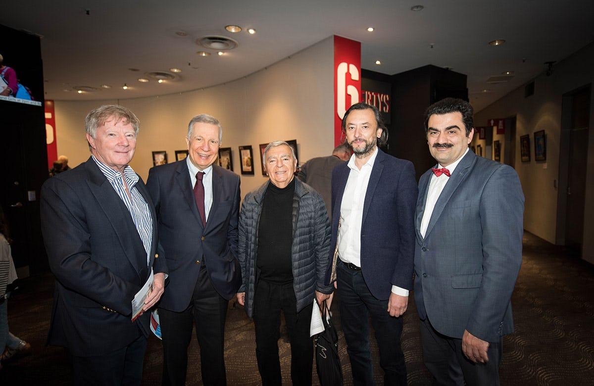 Lysicrates Prize 2017 Alan Manly, John Azarias, Michael Diamond, Dr Stavro Kyrimias