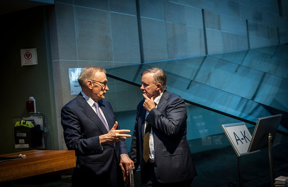 Lysicrates Prize 2016 Bob Carr and Anthony Albanese