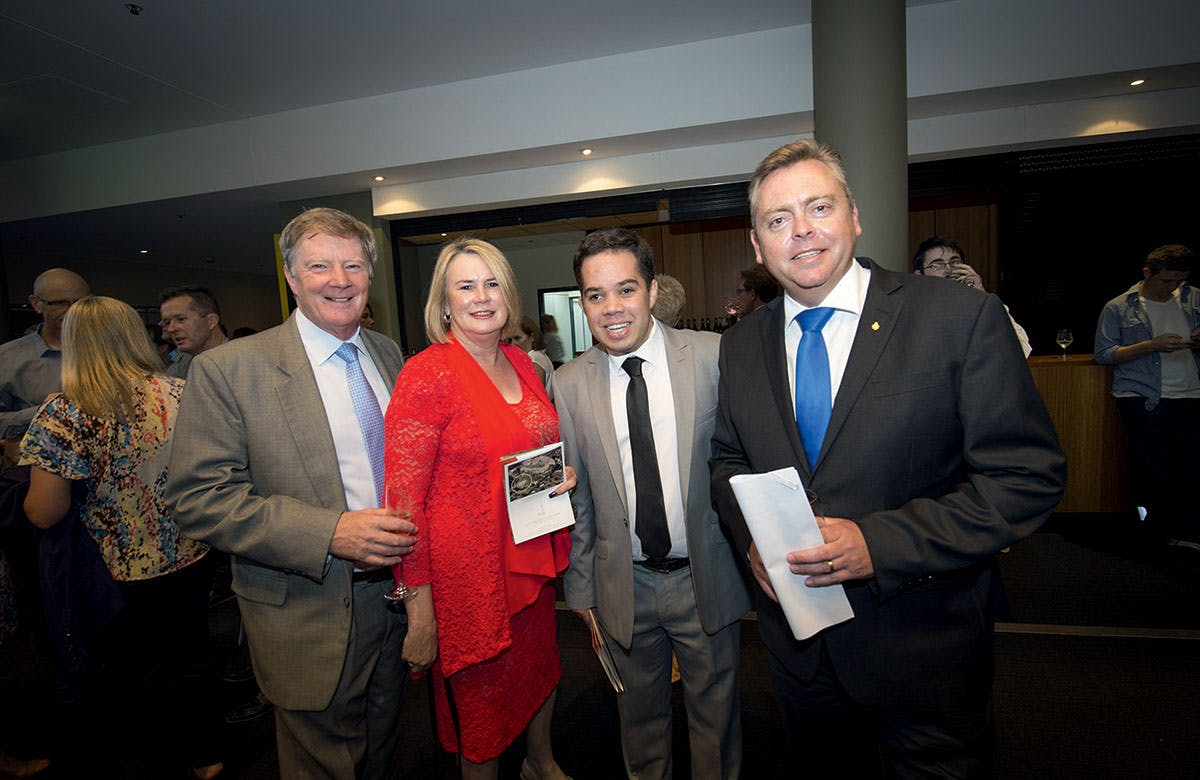 Lysicrates Prize 2016 The Hon Anthony Roberts, Alan Manly, Jenny McCarthy, James Manly