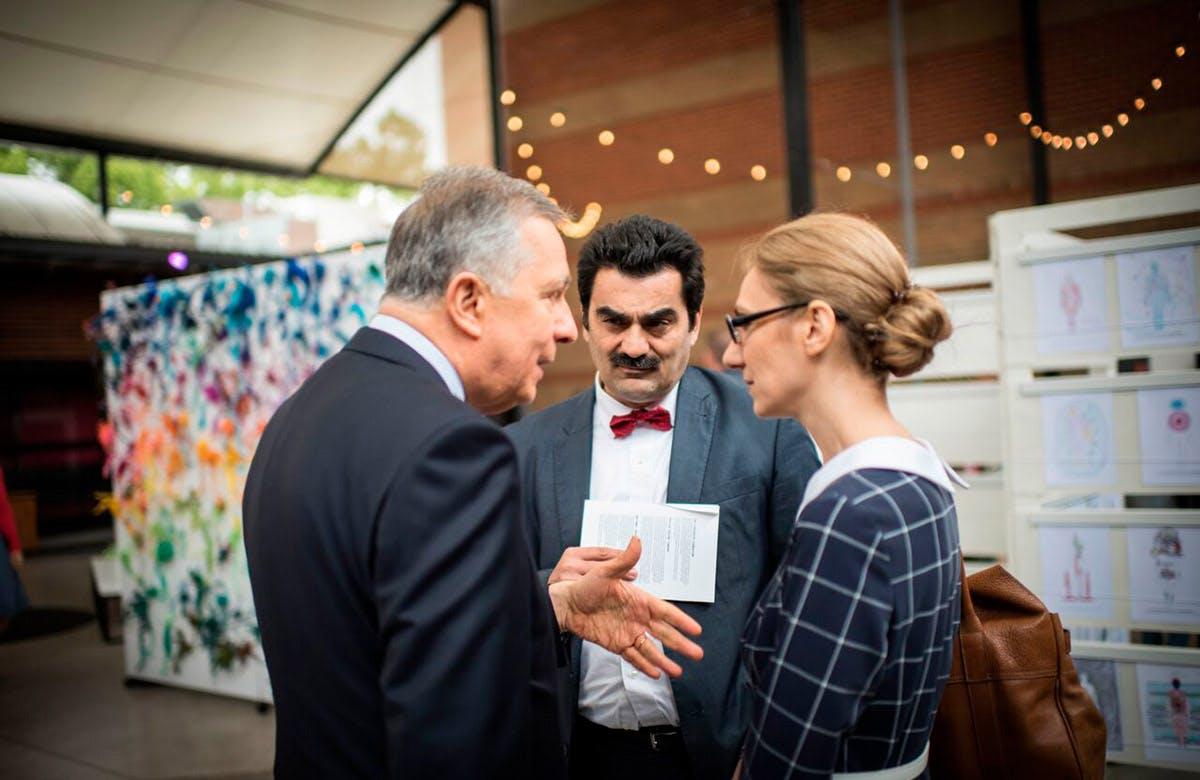 Lysicrates Prize 2017 John Azaris, Dr Stavro Kyrimias, Katia Gkigniza