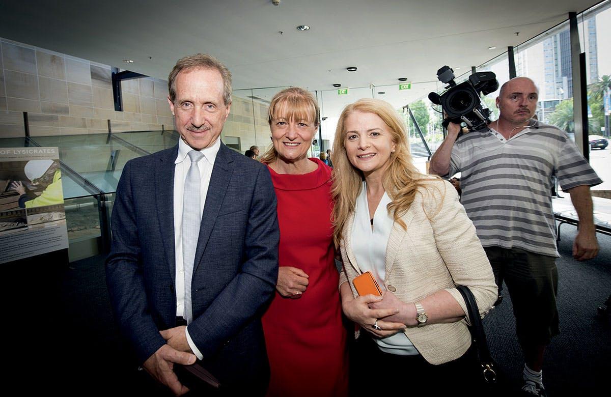 Lysicrates Prize 2016 Lord Mayor of Woollara Toni Zeltzer, Dr Eli Zeltzer and Councillor Angela Vithoulkas