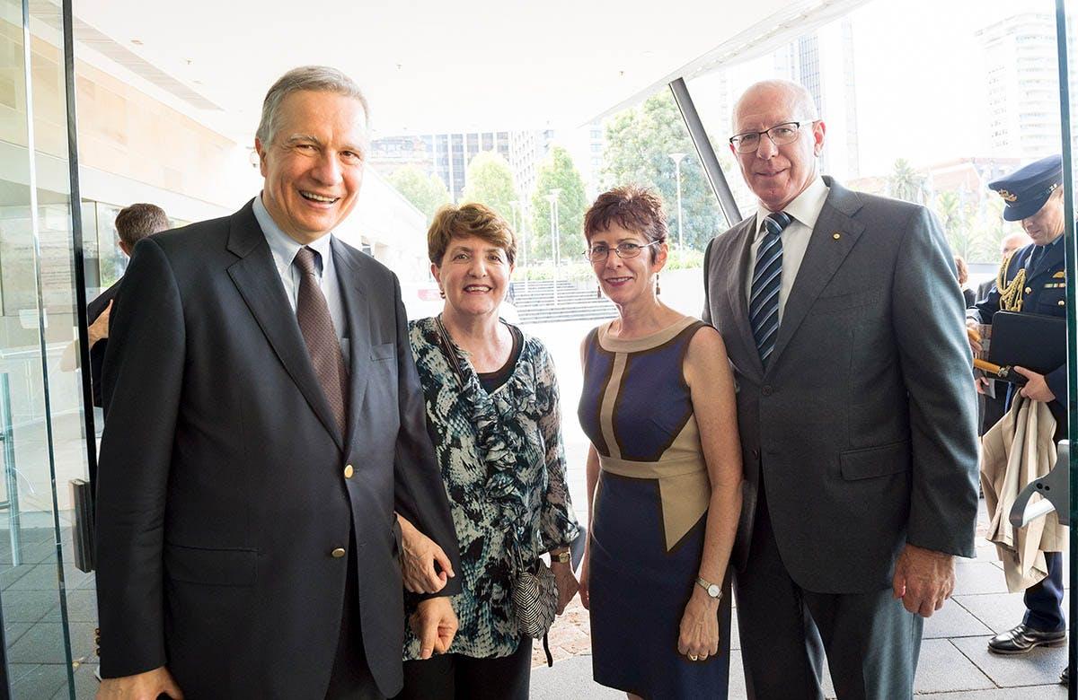 Lysicrates Prize 2016 David Hurley and Linda Hurley, John Azarias, Patricia Azarias
