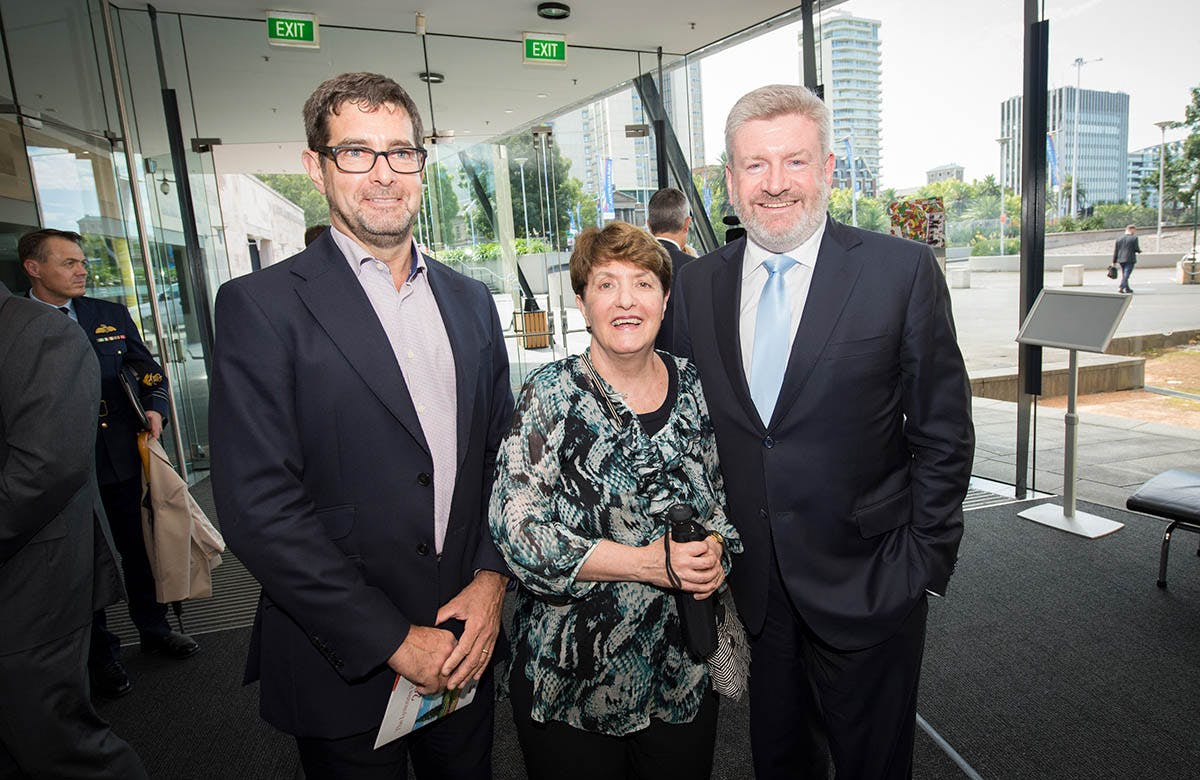 Lysicrates Prize 2016 Bruce Meagher, Dr Patricia Azarias and Mitch Fifield