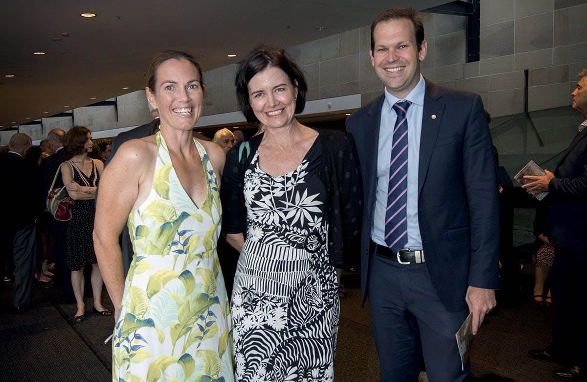Lysicrates Prize 2016 Andrea Canavan, Louise Clegg and Senator Matt Canavan