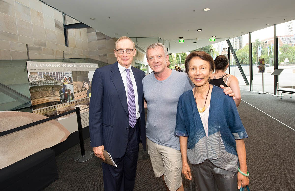 Lysicrates Prize 2016 Bob Carr and Helena Carr enjoying themselves