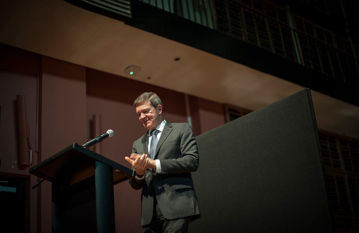 Lysicrates Prize 2015 Kim Ellis addressing the audience