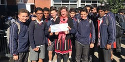 Chatswood High Nicola Hoffman with winning students