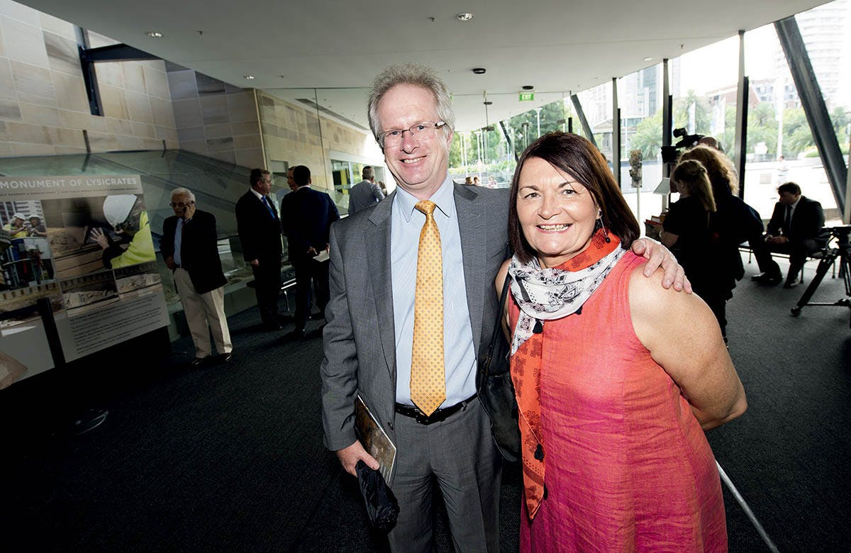 Lysicrates Prize 2016 Australian Financial Review Kevin Chinnery and Jill Chinnery