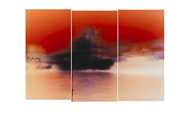 Motiongraph #108 Le pavillon de Flore, Palais du Louvre, River Seine, Paris, France, 04:31 PM, November 22nd, 2017.