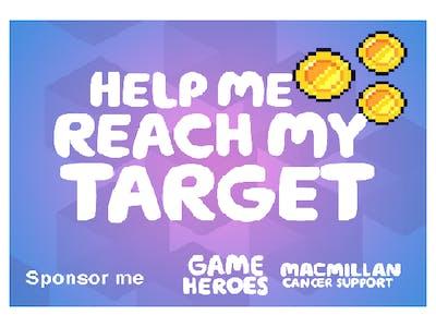 Thumbnail badge 'help me reach my target'