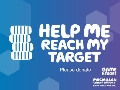Thumbnail of social media badge saying 'Help me reach my target'