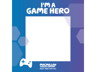 Thumbnail of a Facebook Frame saying 'I'm a game hero