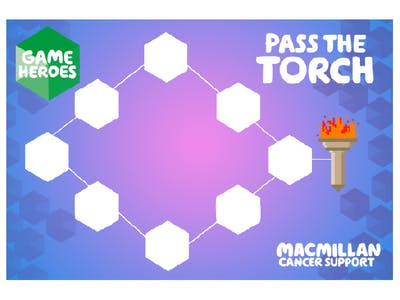 Thumbnail of large team Pass the torch