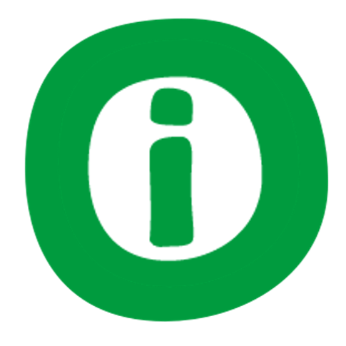 information icon with green background