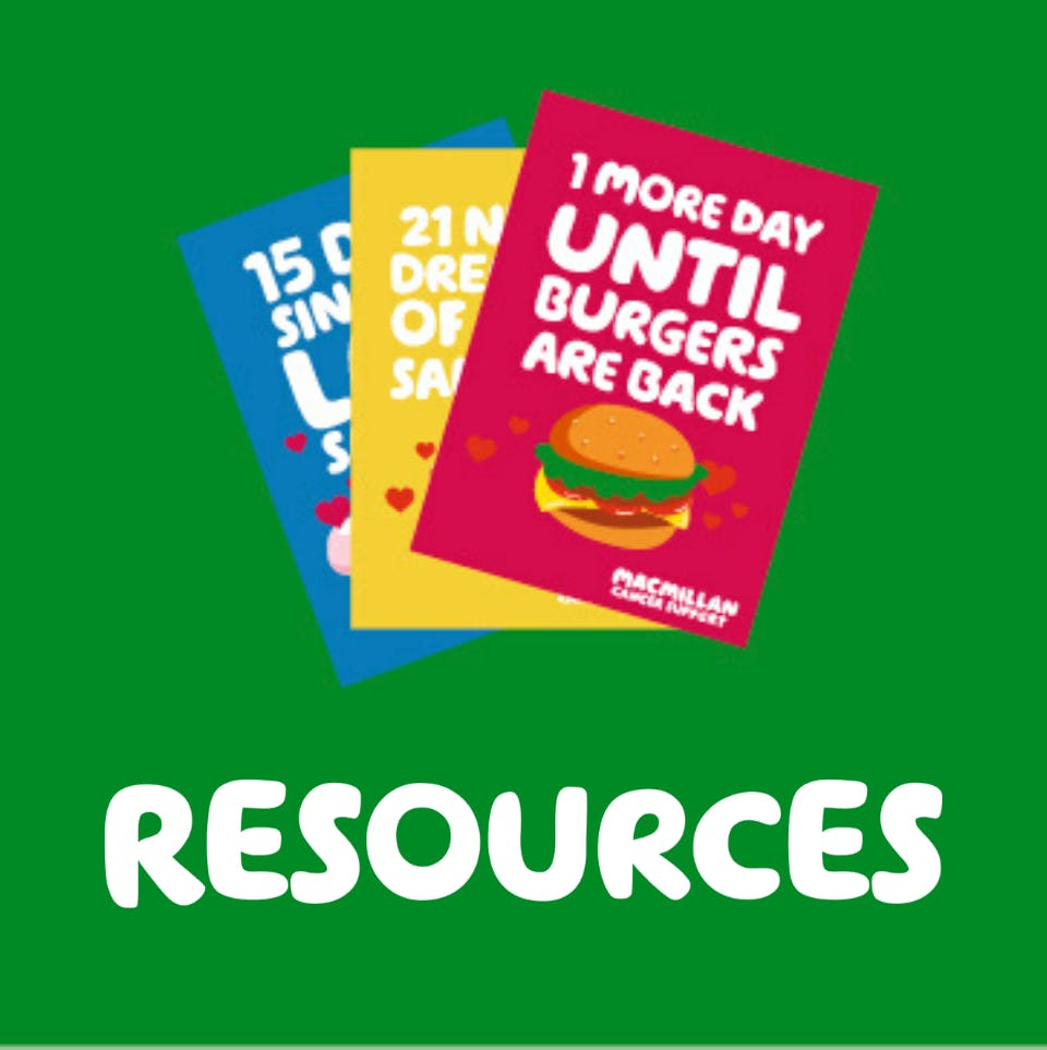 Resources illustration with colourful posters