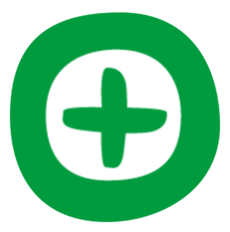 Green icon with plus sign