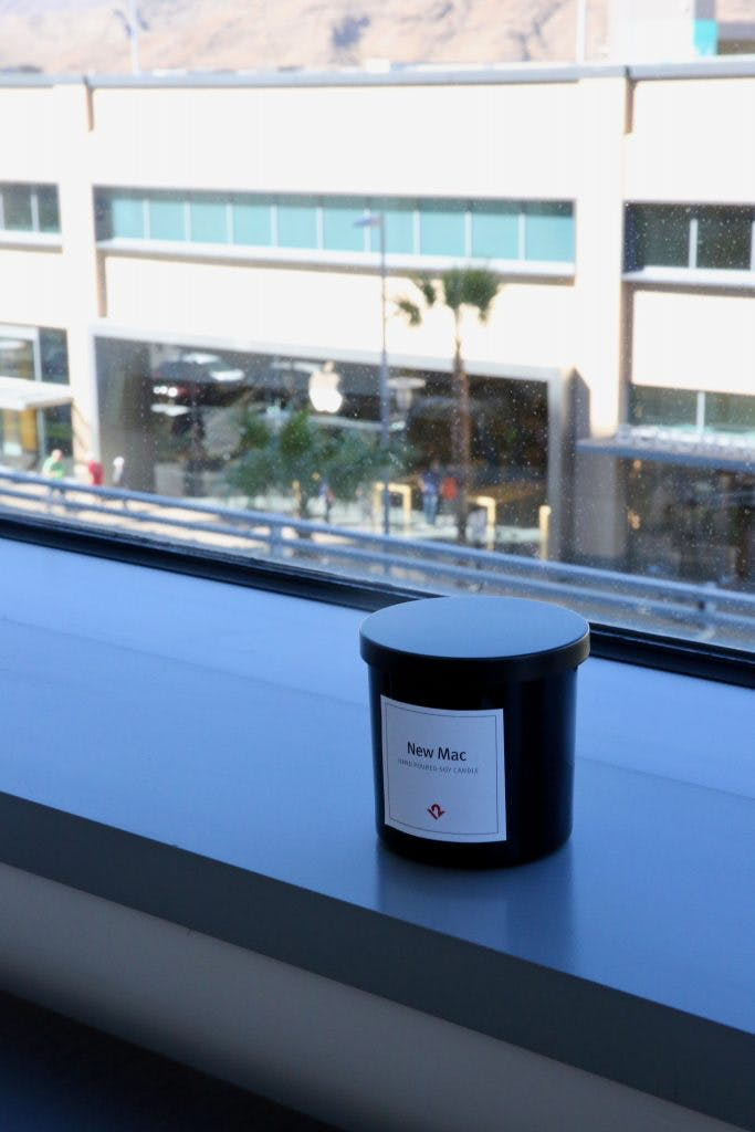 Candle on window sill