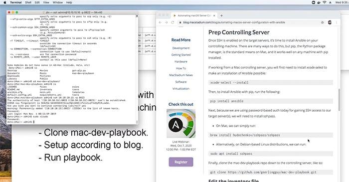 Ansible webinar screenshot