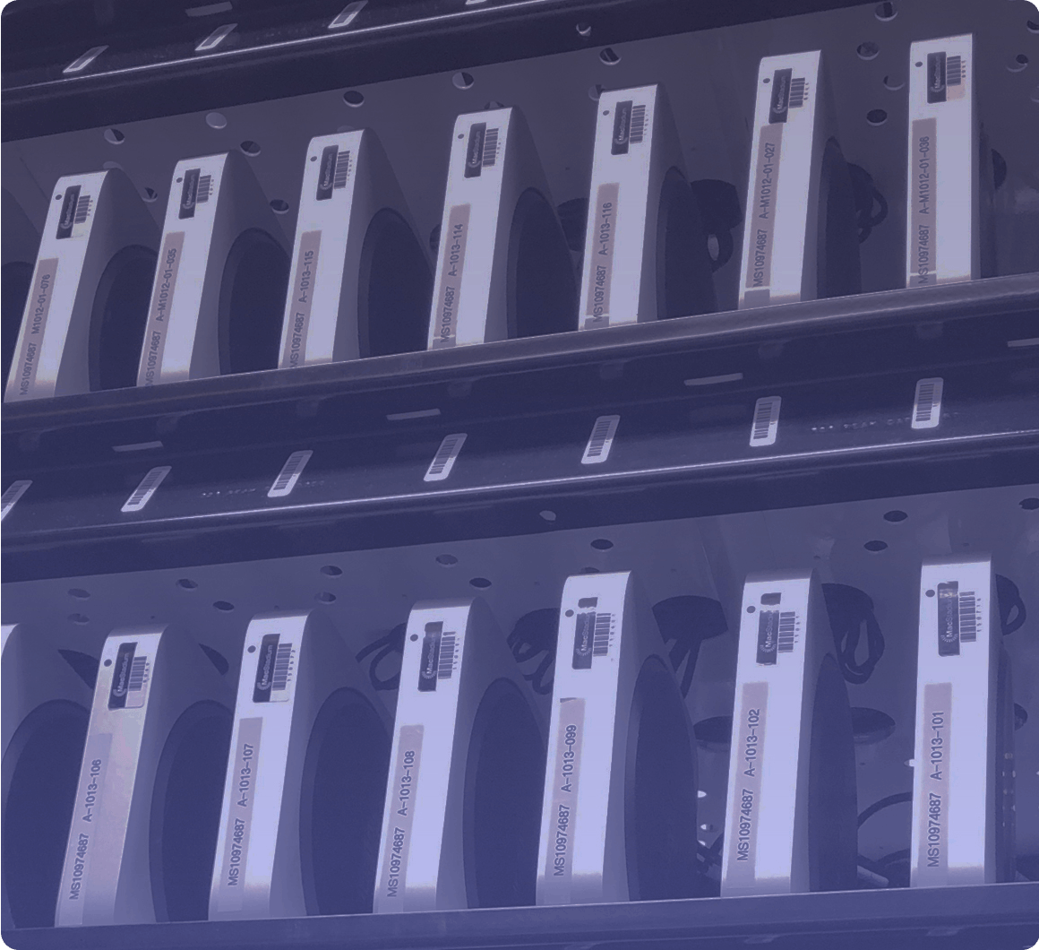 Row of Mac minis