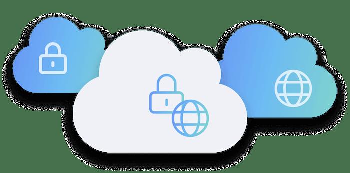 Hybrid cloud illustration