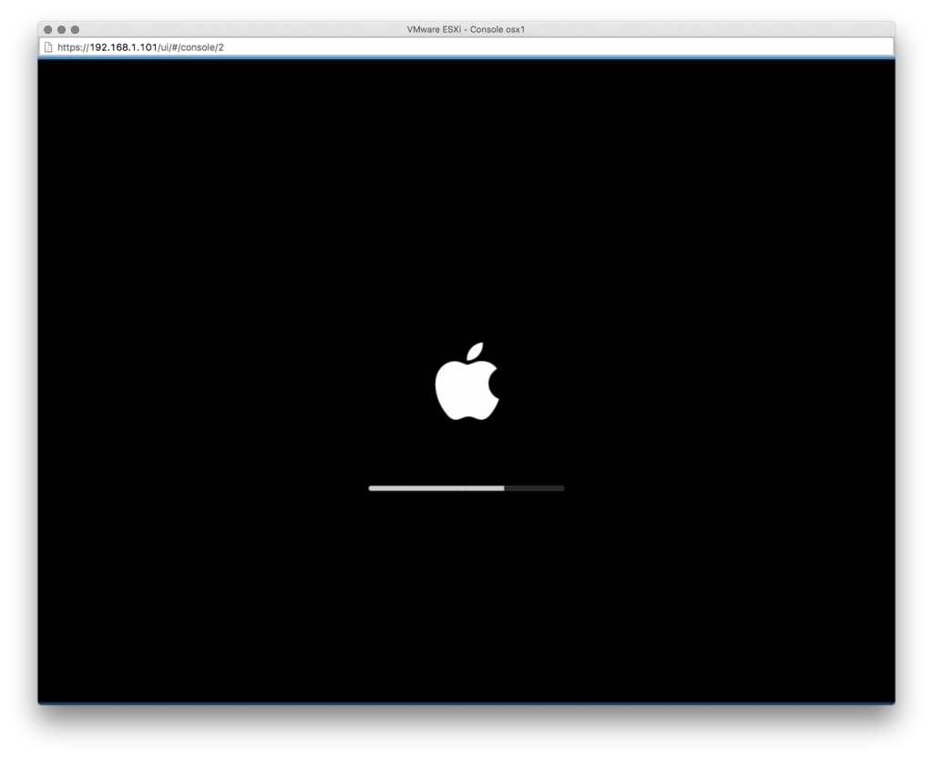 OS X VM screen