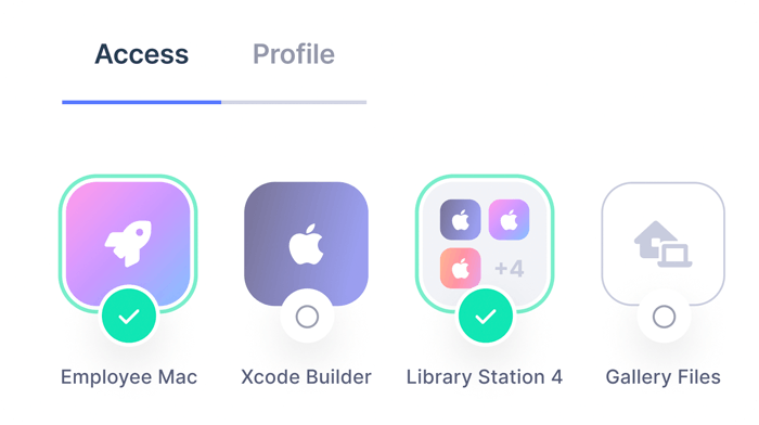 Access icons
