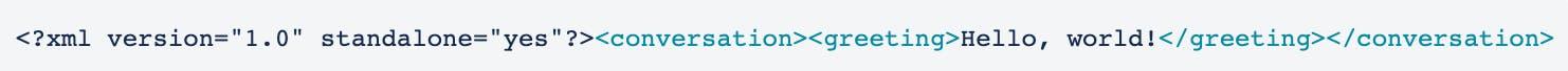 Example XML