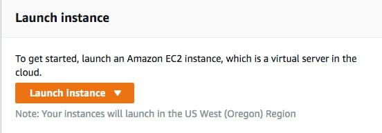 AWS EC2 launch instance