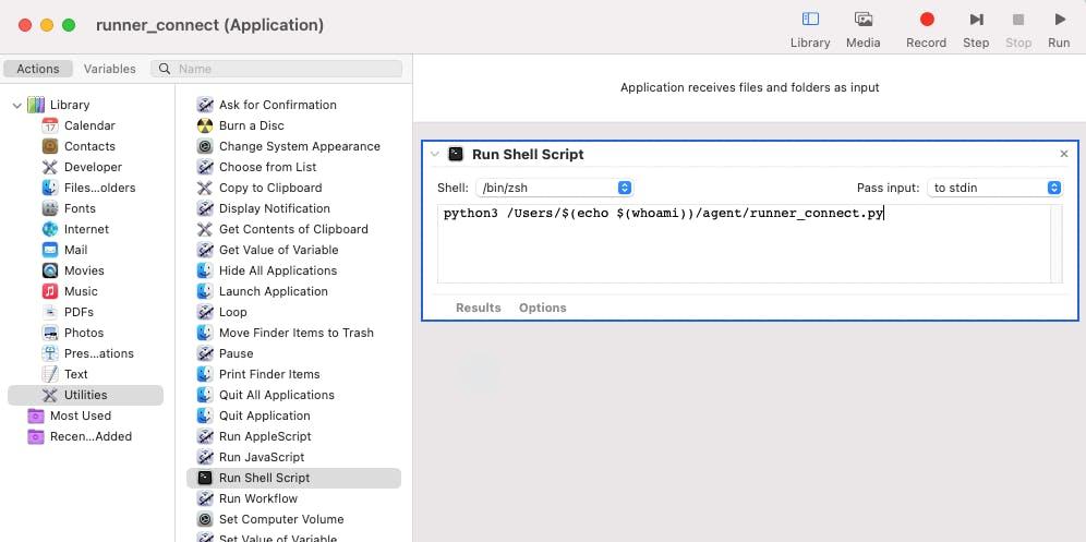 Automator App Screen_Choose Application
