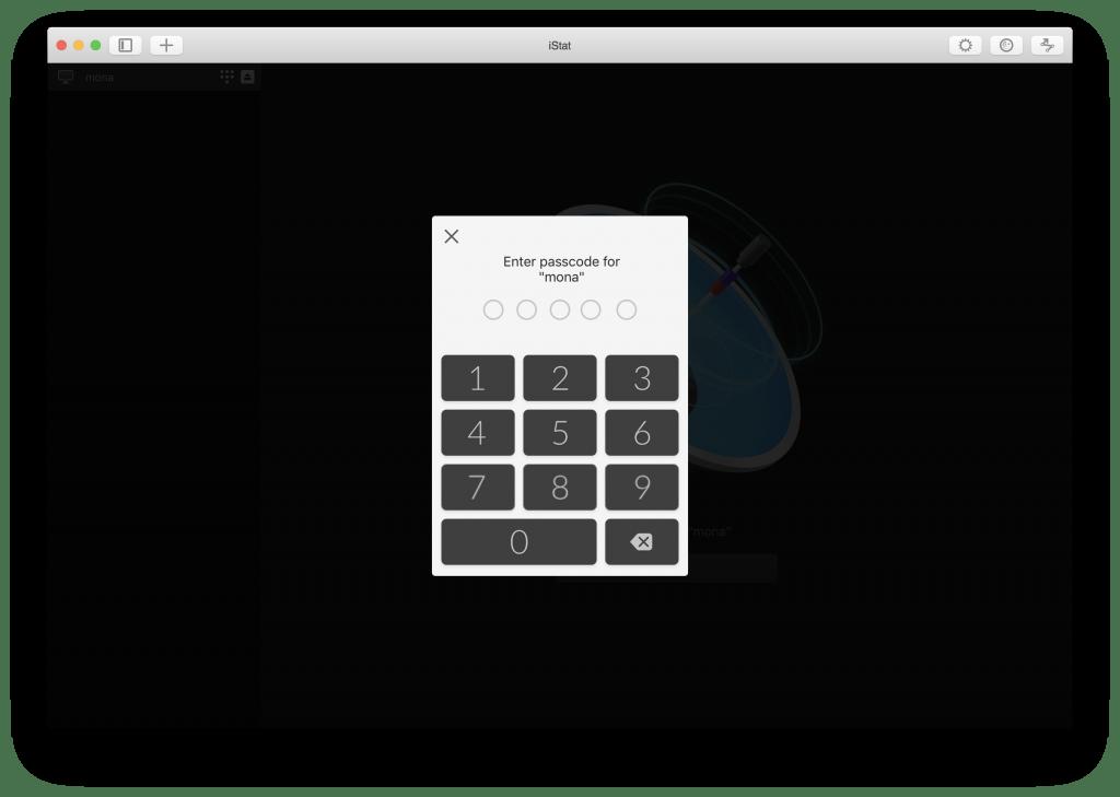 iStat Mac passcode
