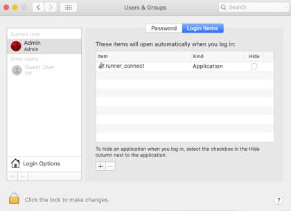 Users and Groups_Select Login Items