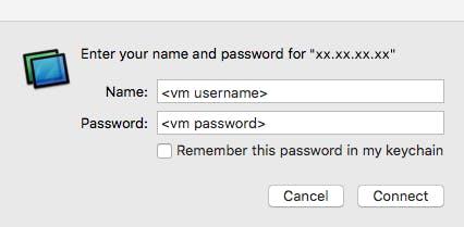 macOS server authentication screen