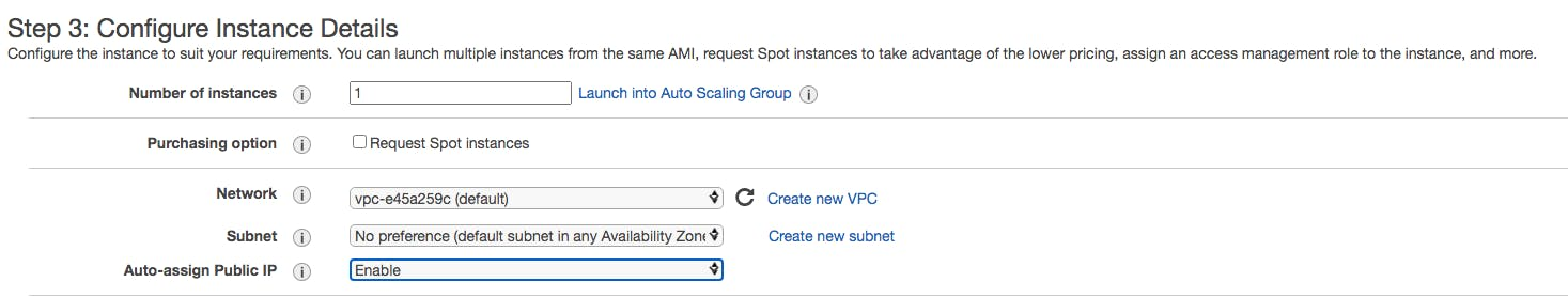 AWS EC2 configure instance