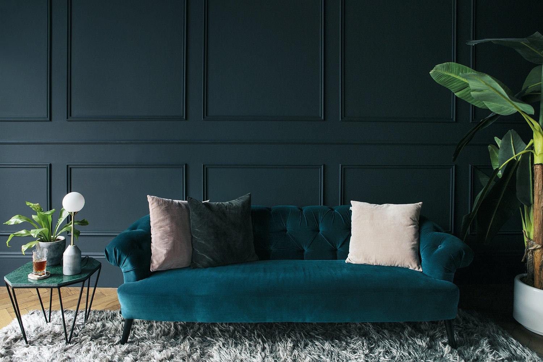Dunkle Wandfarben Warum Der Interior Trend Auch 2018 Wichti