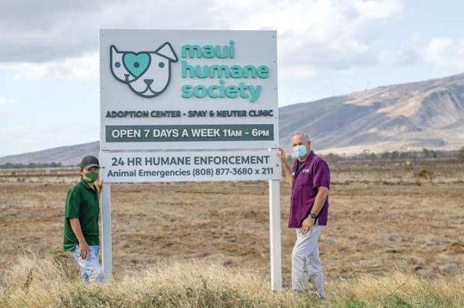 Maui Humane Society sign