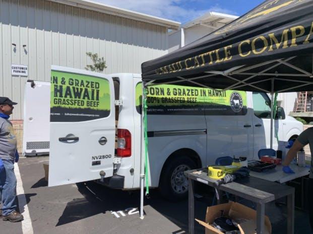 Maui Cattle Company drive up sale