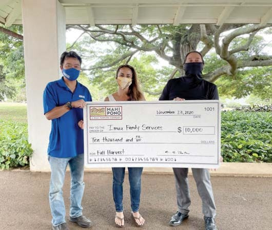 $10,000 donation for Imua Family Services