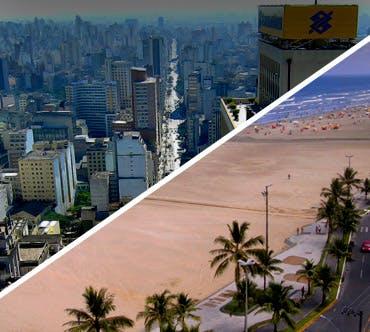Boletos de autobús - São Paulo a Praia Grande