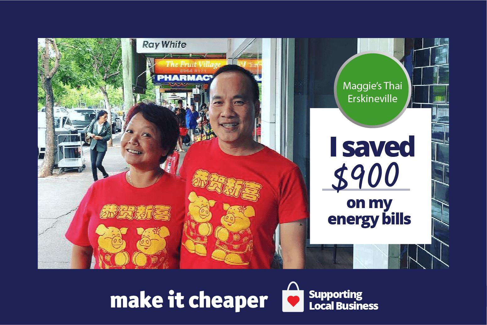 Image of Maggie's Thai owners: Maggie's Thai saved $900 on their energy bills