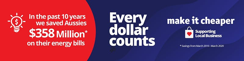 Every dollar counts banner