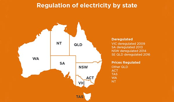 Electricity and gas service plan deregulation by state