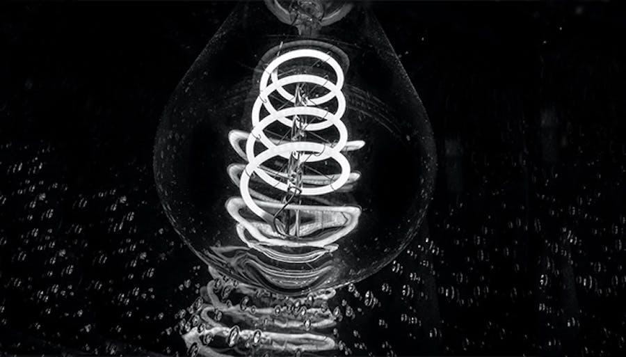dark background light bulb