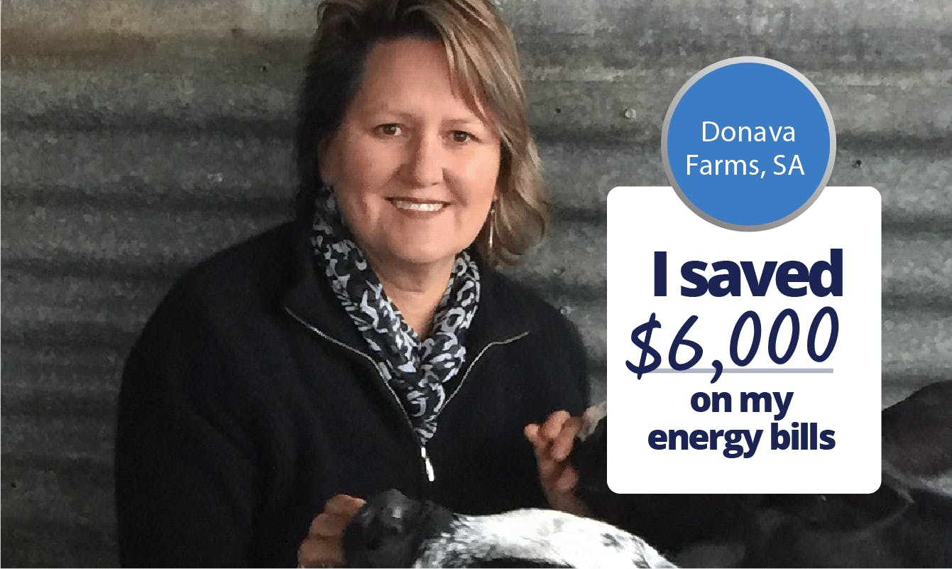 Dona Farms, SA - I saved $6,000 on my energy bills