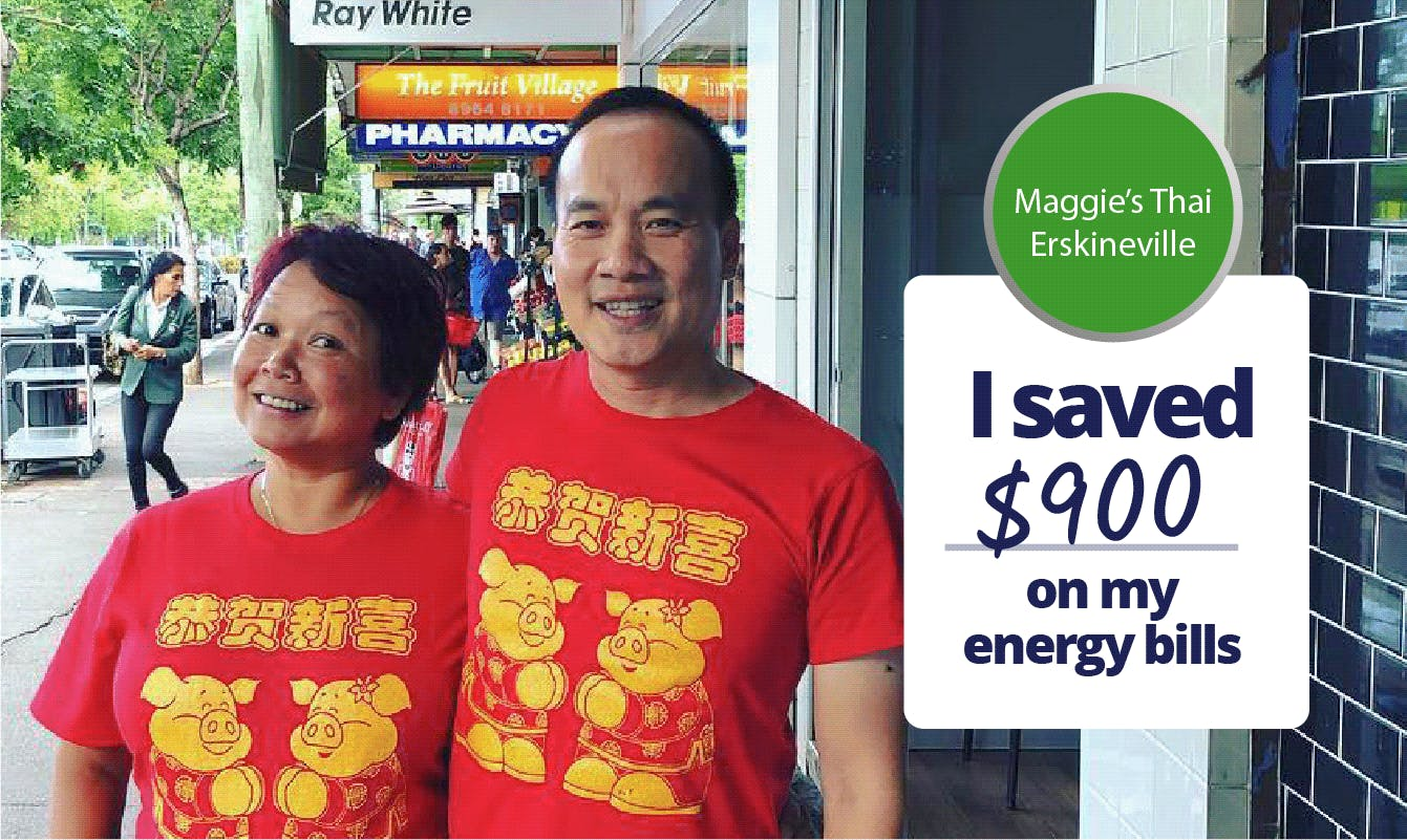 Maggie's Thai Erskineville - I saved $900 on my energy bills