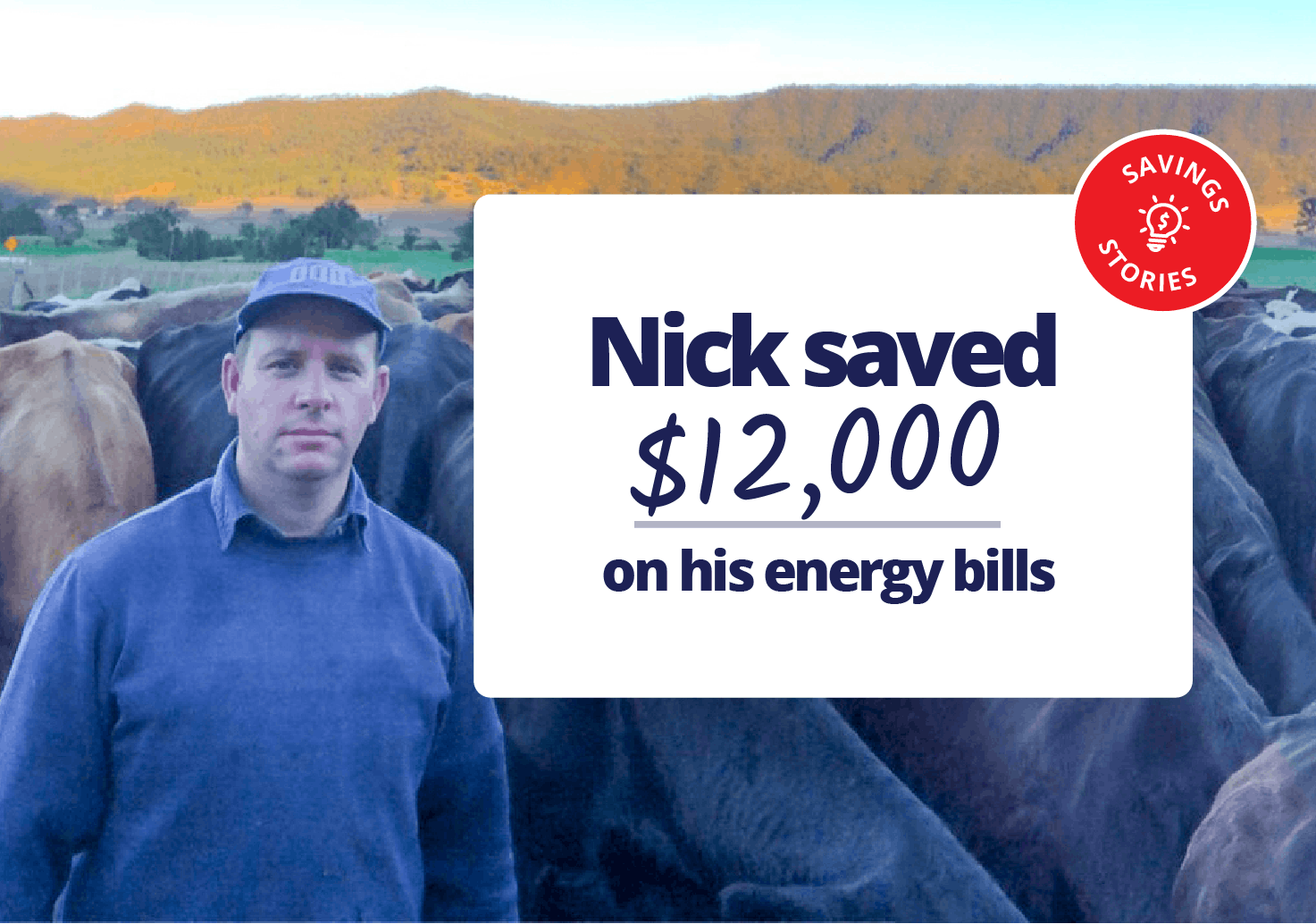 Nick saved $12,000 on his energy bills