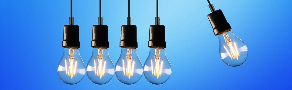 Business Electricity Rates & Prices - lightbulbs